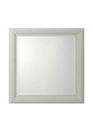 Gentry home ocean espejo con marco madera acabado blanco for Espejos con marco de madera blanco