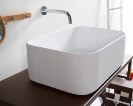 Lavabo Resina Blanco.Cipi Italia Lavabo Resina Slash Super Terra Ceramica