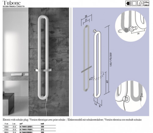Antrax tubone radiador electrico - Radiador electrico bano ...
