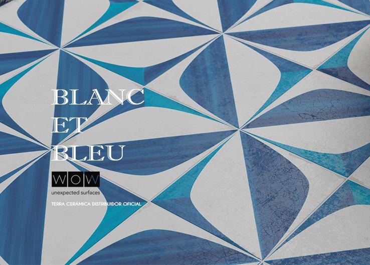 Los azulejos azul covalto de la firma WoW