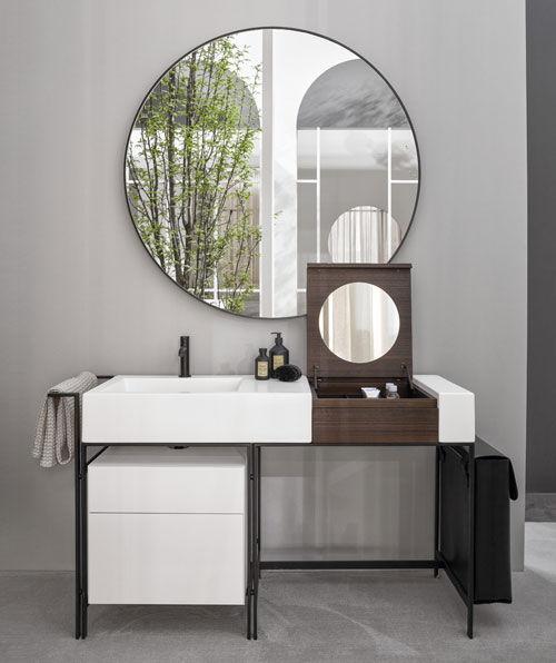 mueble de baño con lavabo de la firma ceramica cielo narciso