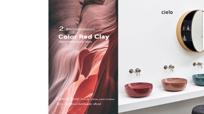 Color Red Clay, el color tendencia que llega a los lavabos.