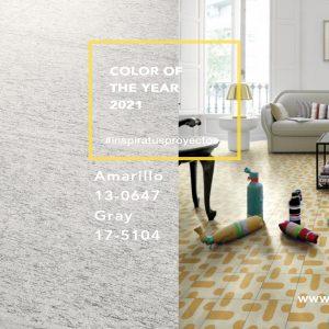 Los colores del año Ultimate gray y Amarillo para vestir tus proyectos