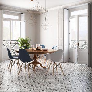 Patchwork Black&White, 2 tonos para azulejos decorados.