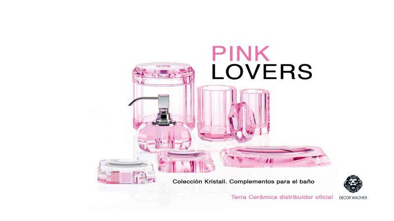 Pink Lovers, también para complementos del baño